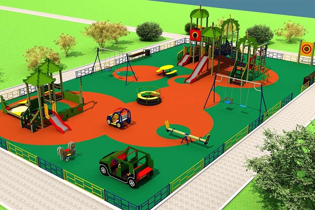 Детские придомовые площадки картинки